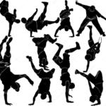 フラッシュモブでブレイクダンス